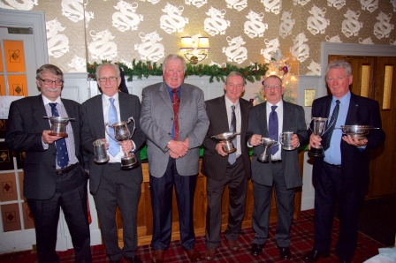 9 - Club President Davy Landsburgh with Trophy Winners